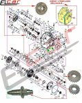 Skrzynie biegów - części zamienne do wózków widłowych BALKANCAR - DV-1661HDP STARY TYP