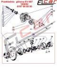 Mosty napędowe - części zamienne do wózków widłowych BALKANCAR - EV-687MOST NAPĘDOWY cz.2