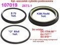 Instalacje hydrauliczne - części zamienne do wózków widłowych BALKANCAR - Kpl. pierścieni cylindra podnoszenia do wózków widłowych