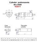 Maszty - części zamienne do wózków widłowych BALKANCAR - Cylinder podnoszenia /80X1650/ do wózków widłowych