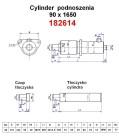 Maszty - części zamienne do wózków widłowych BALKANCAR - Cylinder podnoszenia /90X1650/ do wózków widłowych