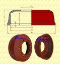 Pozostałe części zamienne do wózków widłowych BALKANCAR - BĘBEN HAMULCOWY EP/ES  BEZ KANAŁKA    do wózków widłowych BAŁKANCAR